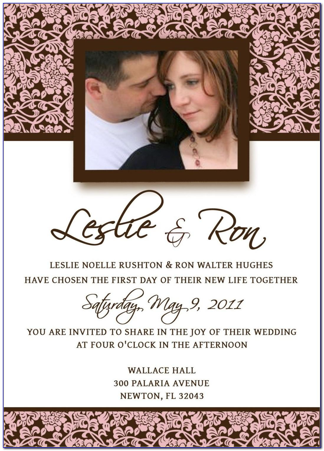 Engagement Invitation Card Template Vector