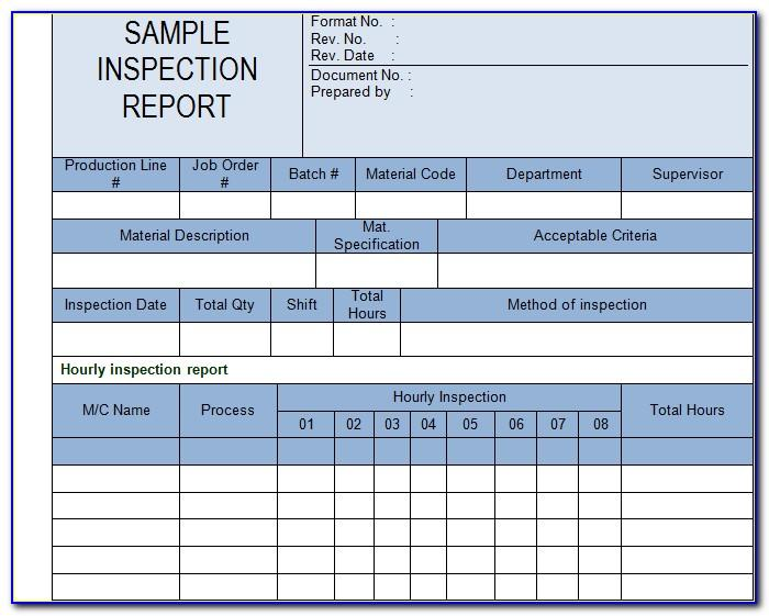 Equipment Inspection Checklist Template Excel