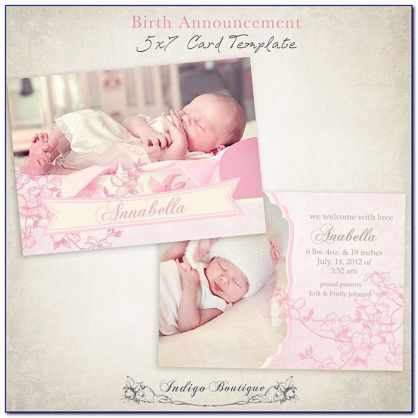 Etsy Birth Announcement Templates
