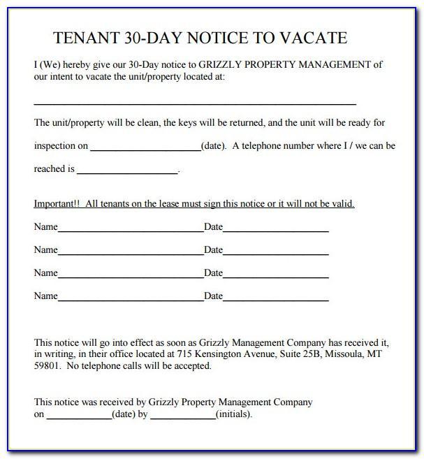 Eviction Notice Form Ny