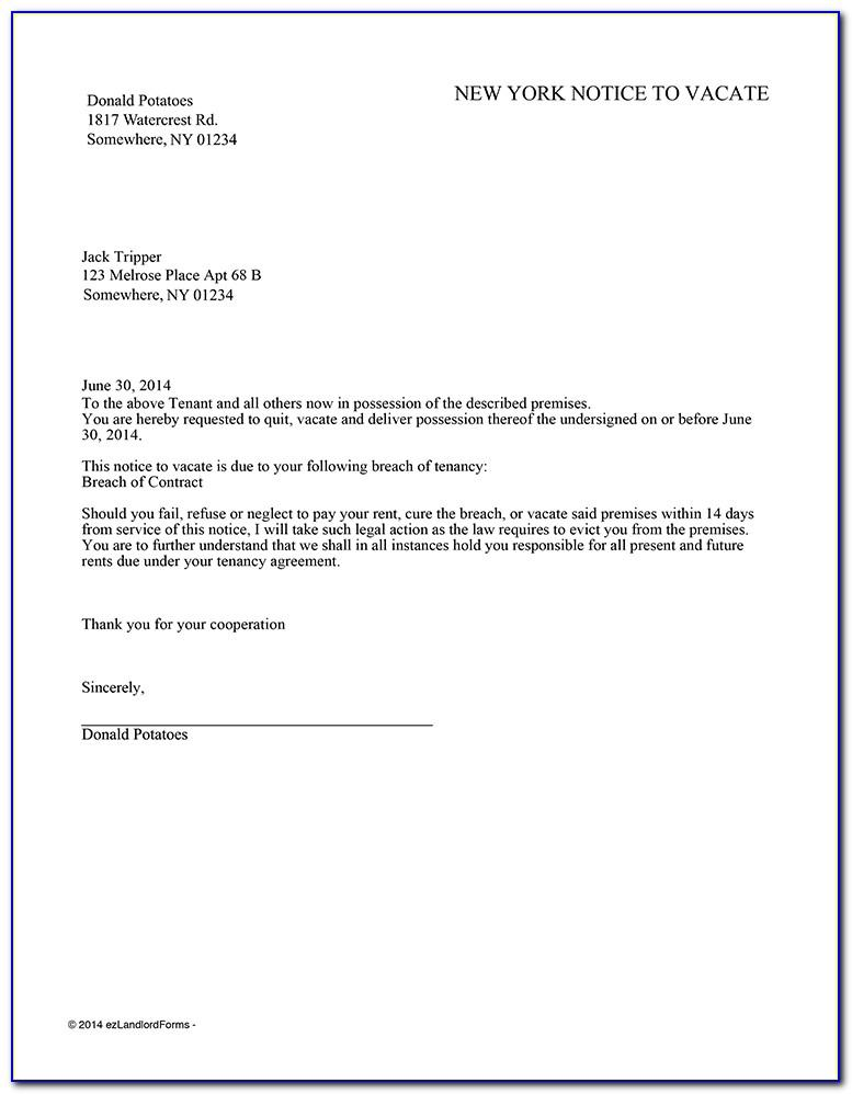 Eviction Notice Template Nyc