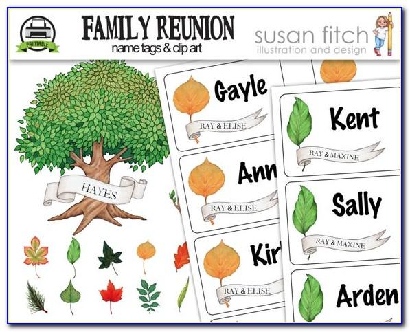 Family Reunion Name Tag Template