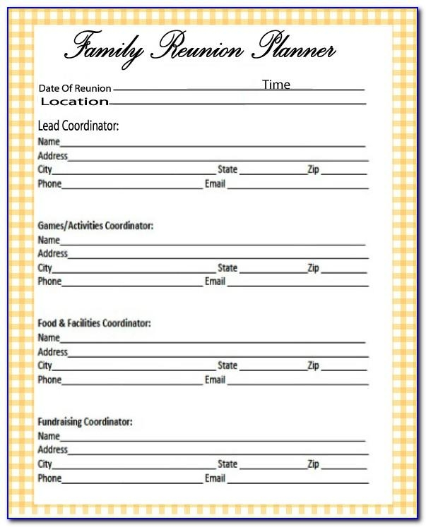 Family Reunion Planning Template