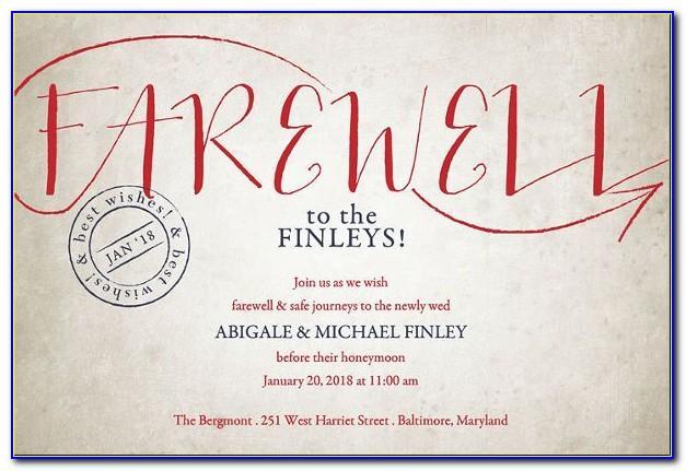 Farewell Invite Template For Colleague