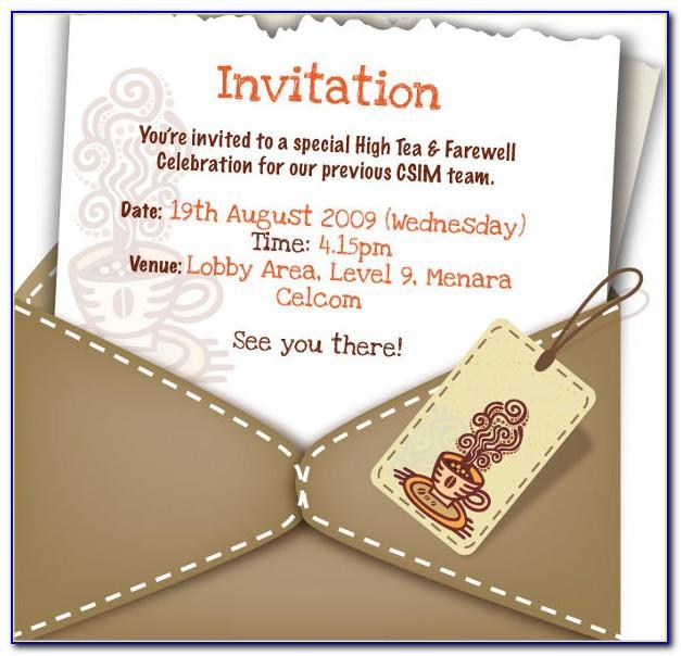Farewell Invite Template Word