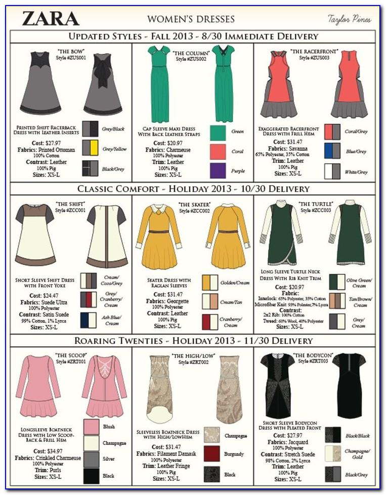 Fashion Clothing Line Sheet Template