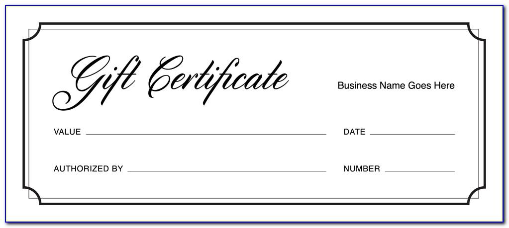 Fill In Christmas Gift Certificate Template