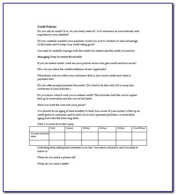 Financial Advisor Business Plan Example