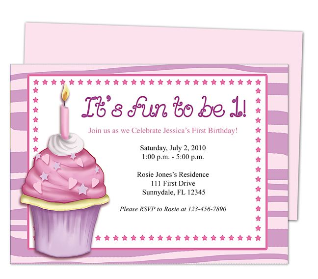 First Birthday Invitation Editable Templates