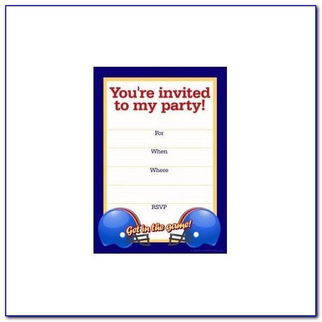 Football Party Invitation Template Uk