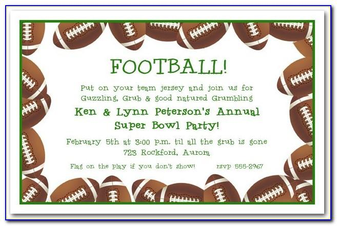 Football Party Invite Template Free Uk