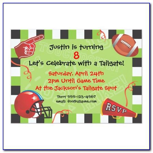 Football Themed Party Invitation Template Free