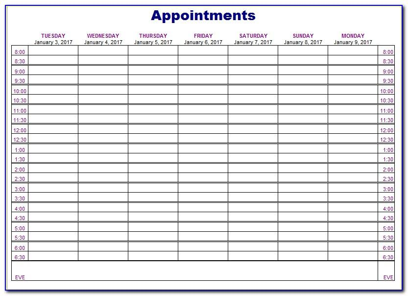 Free Appointment Scheduler Template