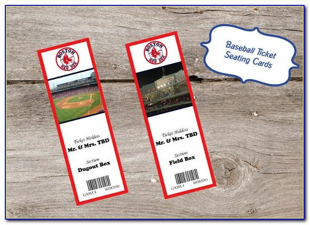Free Baseball Ticket Invitation Template