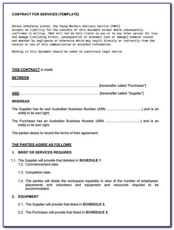Free Building Maintenance Contract Template