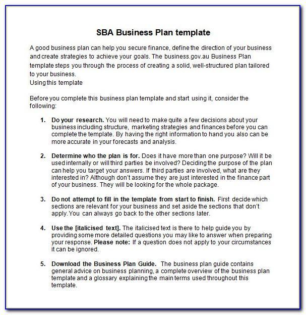 Free Business Plan Template Google Docs