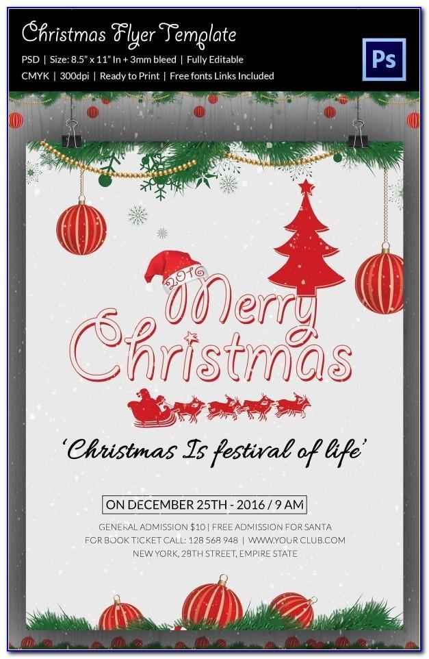 Free Christmas Flyer Design Templates