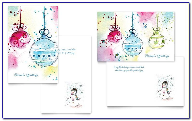 Free Christmas Greeting Card Template Word