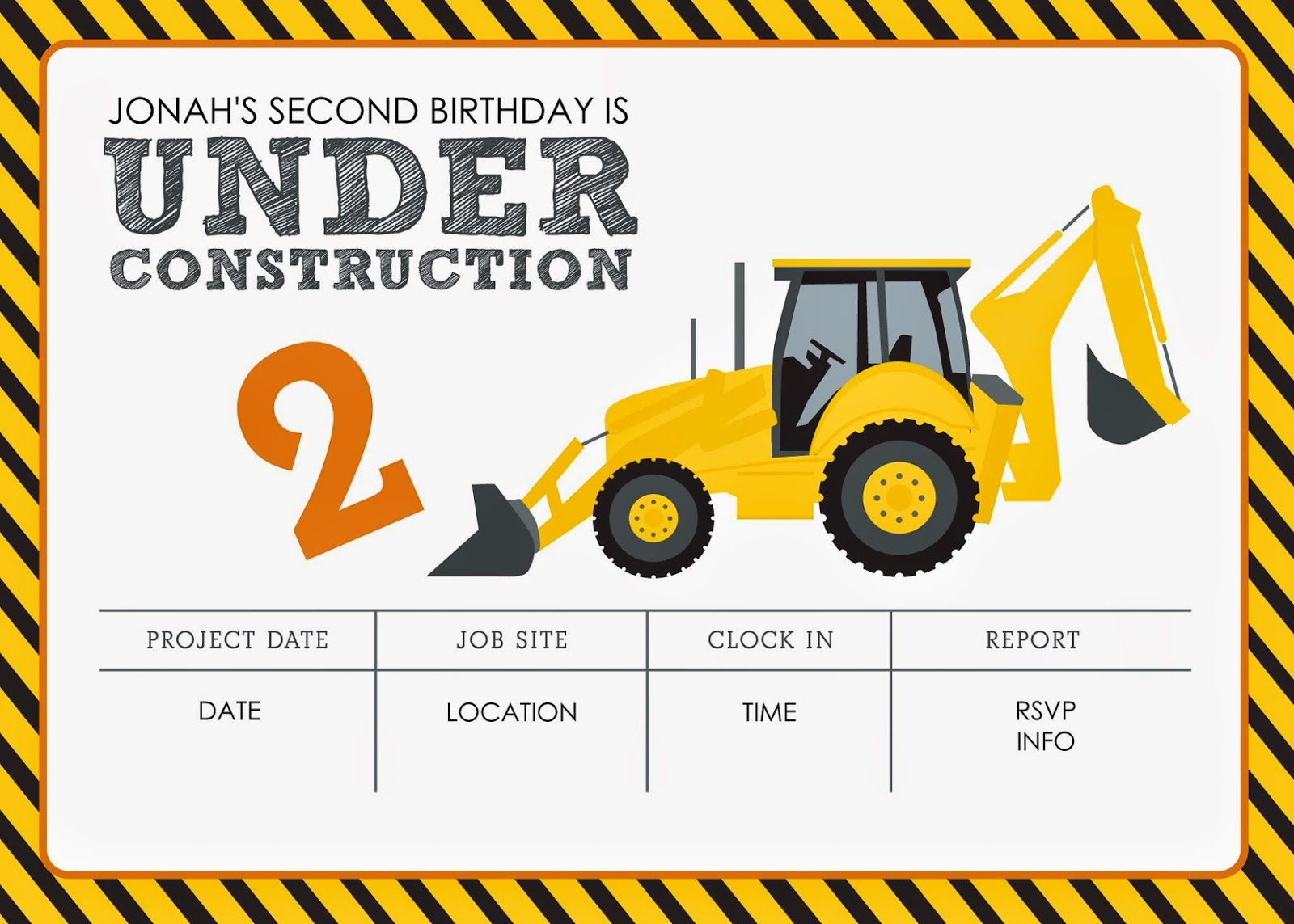 Free Construction Invitation Template