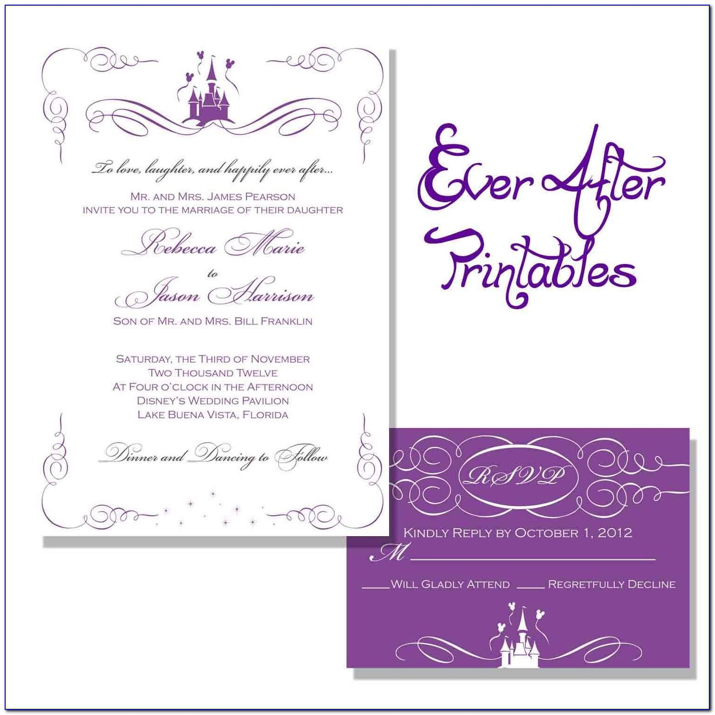 Free Disney Wedding Invitation Templates