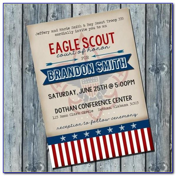 Free Eagle Scout Invitation Templates