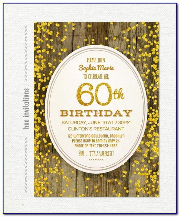 Free Editable 60th Birthday Invitation Templates