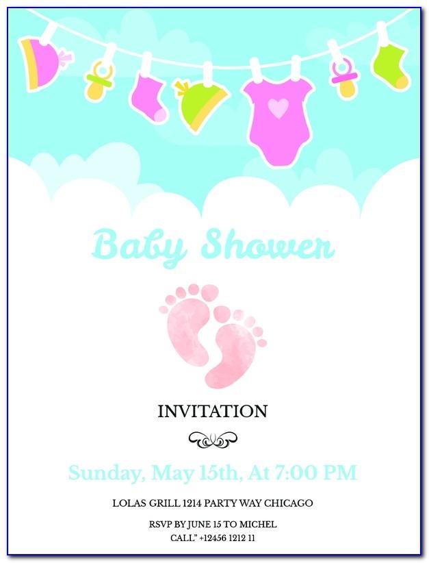 Free Editable Baby Shower Invitation Templates India