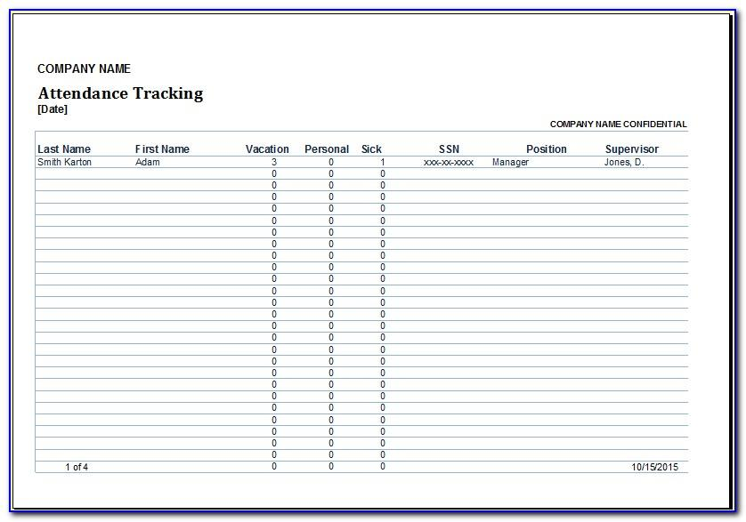 Free Employee Attendance Tracker Excel Template 2019