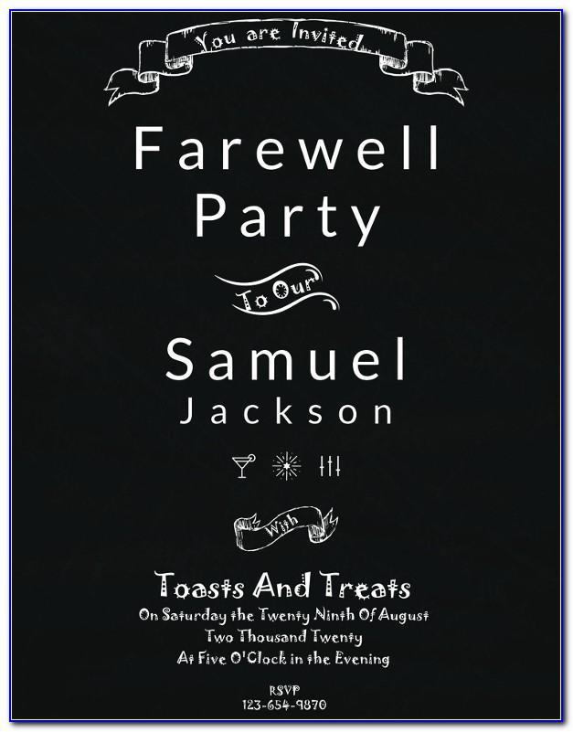 Free Farewell Invitation Maker