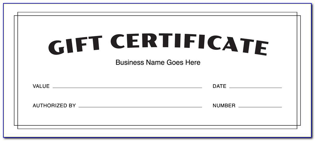 Free Fill In Gift Certificate Template