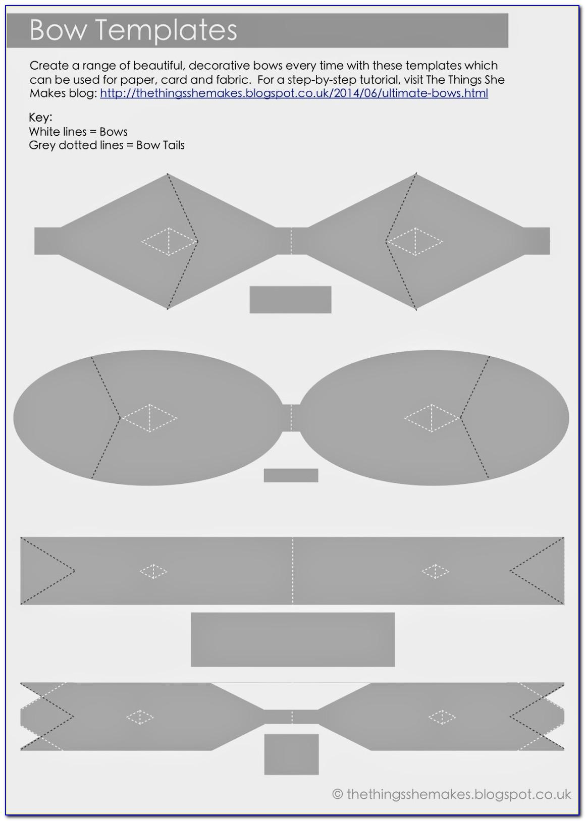 Free Hair Bow Making Templates