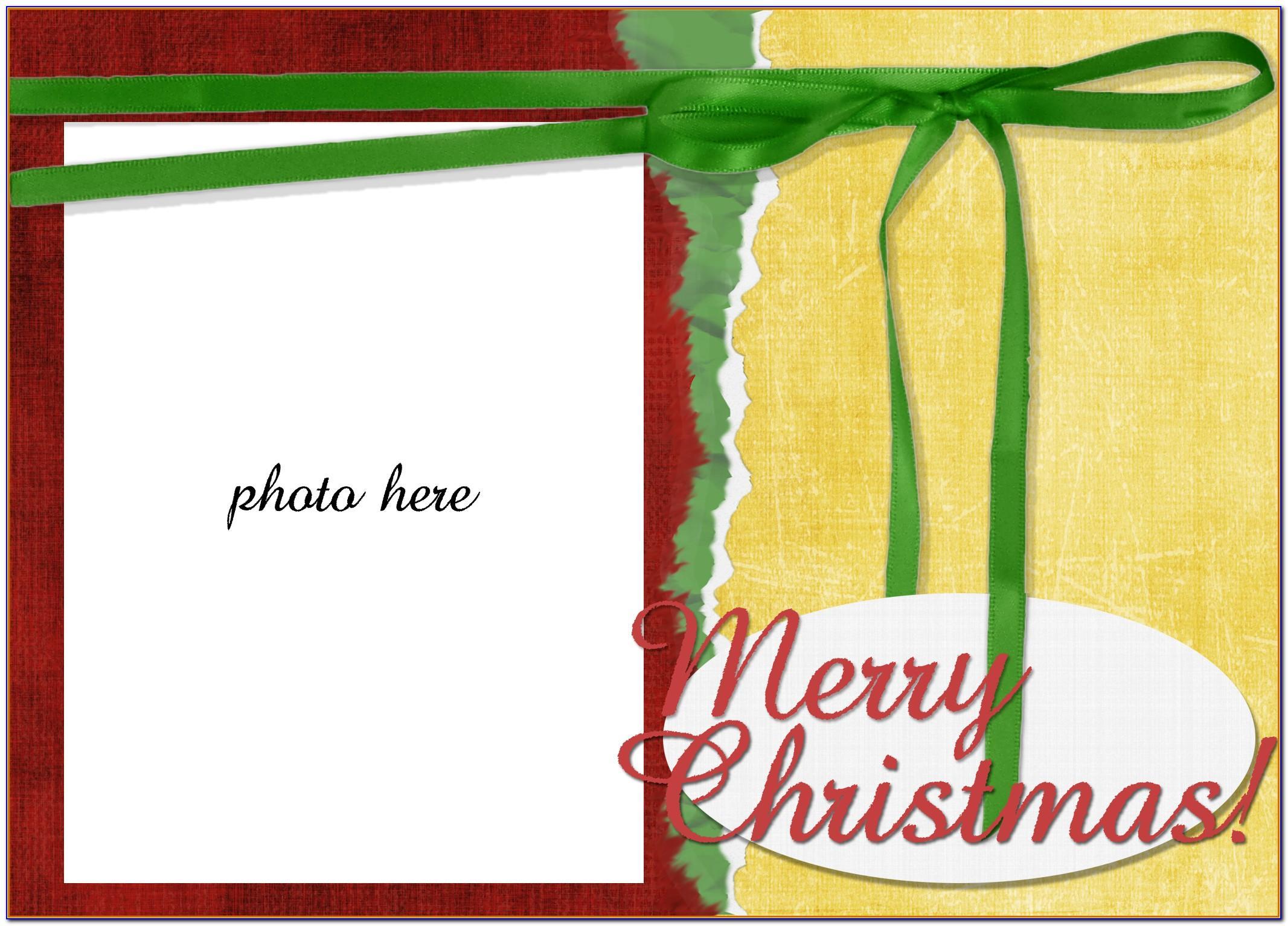 Free Holiday Card Templates Microsoft Word
