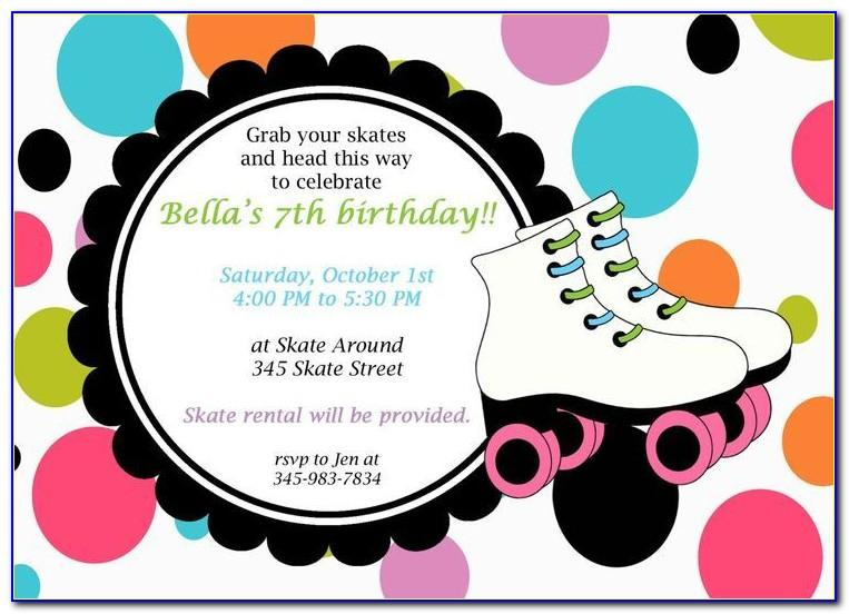 Free Ice Skating Birthday Party Invitation Template