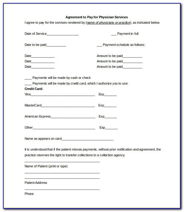 Free Installment Payment Agreement Template