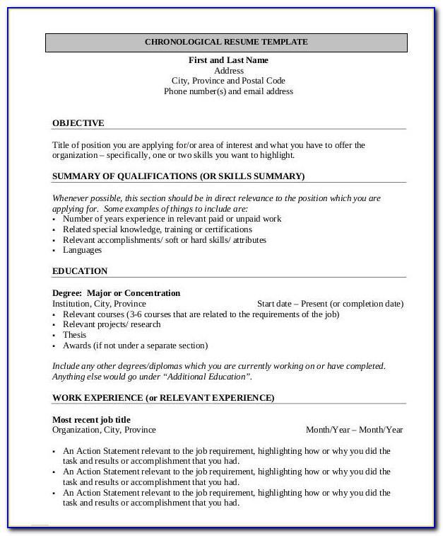 Free Job Resume Templates 2019