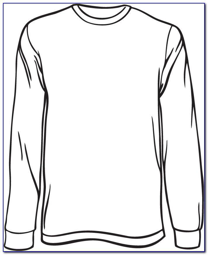 Free Long Sleeve T Shirt Design Template