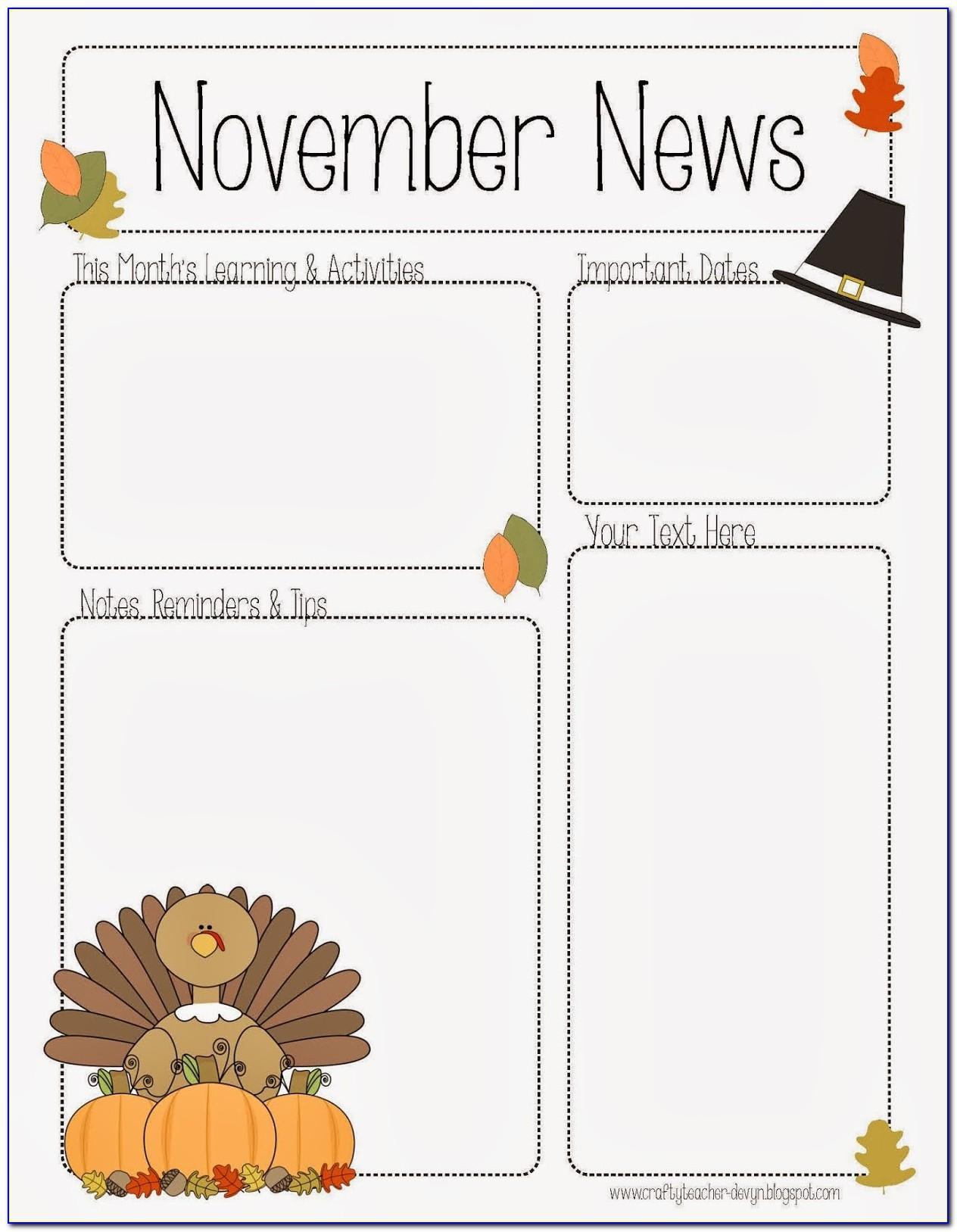 Free November Newsletter Templates