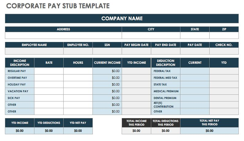 Free Online Check Stubs Template