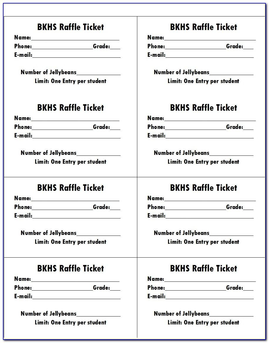 Free Online Template For Raffle Tickets