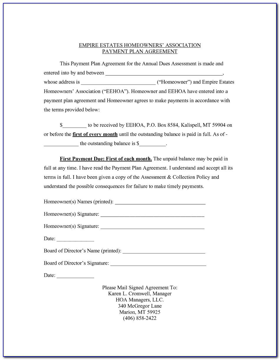Free Payment Agreement Template Between Two Parties