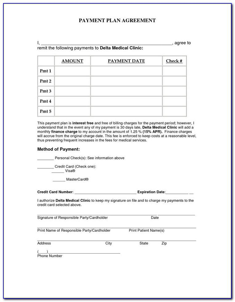 Free Payment Agreement Template Word