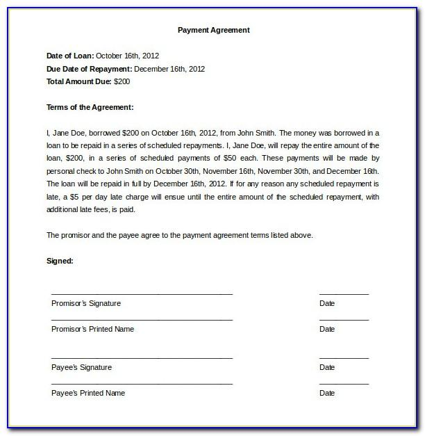 Free Payment Plan Agreement Template