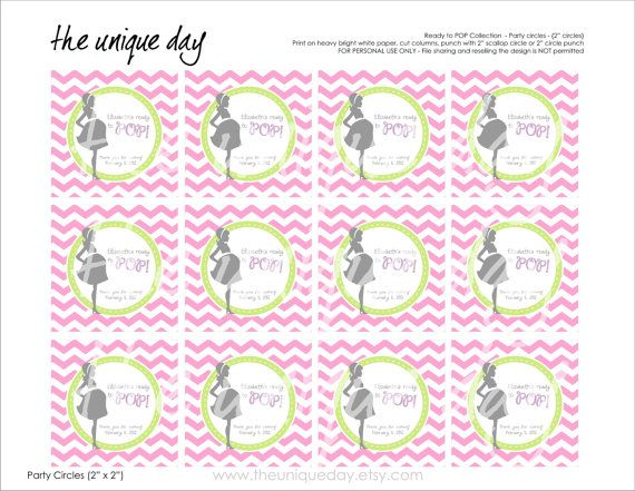 Free Printable Baby Shower Favor Tags Templates