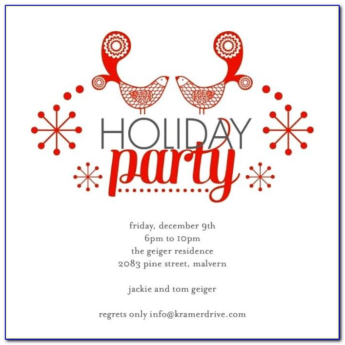 Free Printable Christmas Party Invite Template