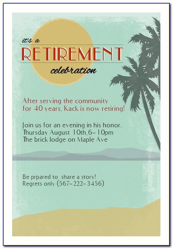 Free Printable Retirement Card Template