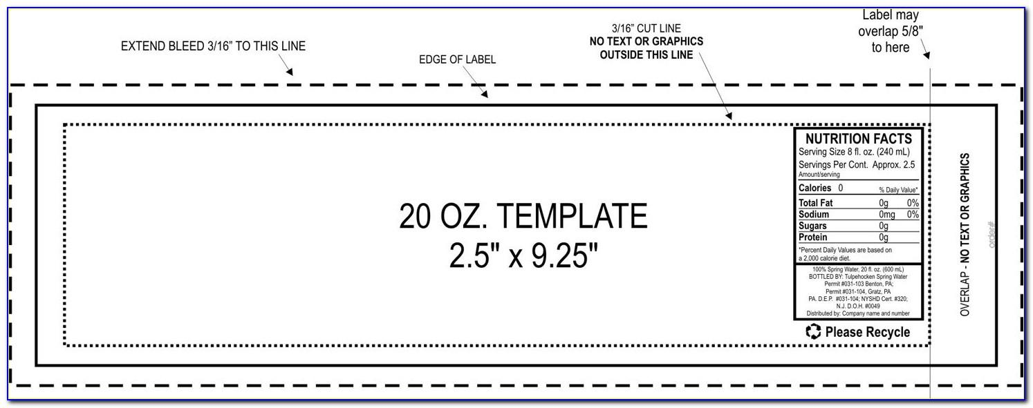 Free Printable Template For Water Bottle Labels