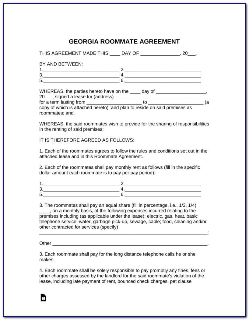 Free Rental Agreement Form Ga