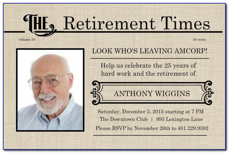 Free Retirement Greeting Card Template