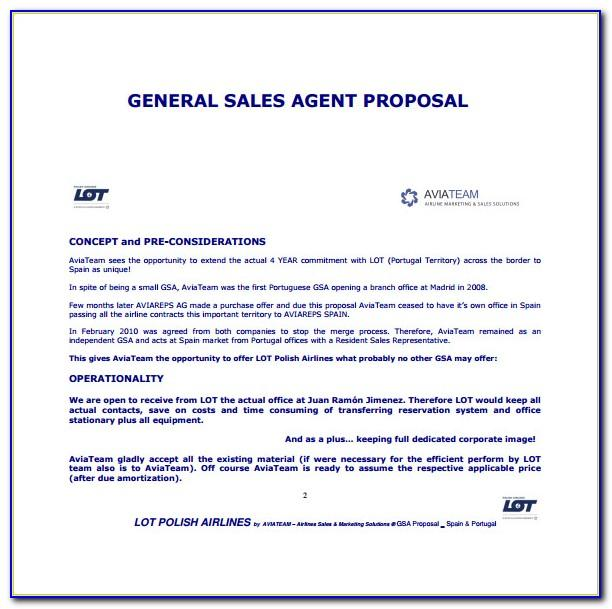 Free Sales Proposal Template Doc