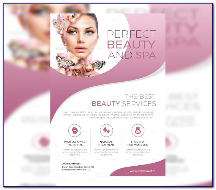 Free Spa Tri Fold Brochure Templates